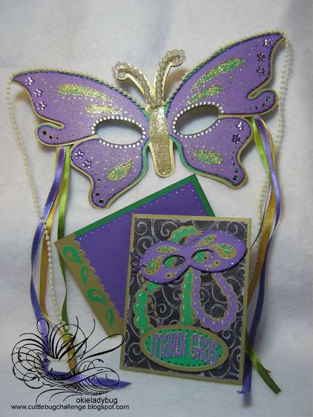 Mardi Gras Mask and Card