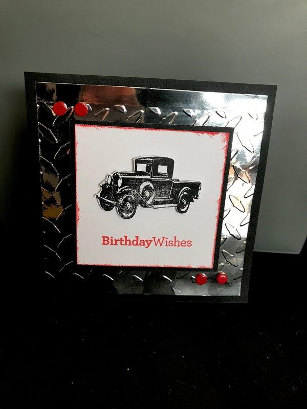 Truck bday card