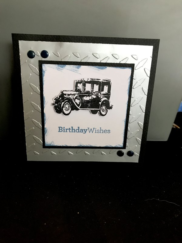 Car bday card