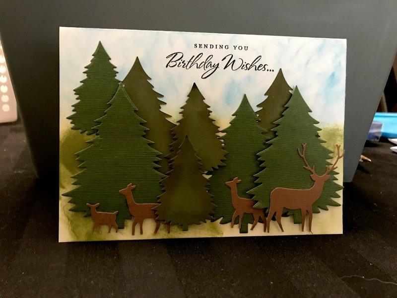 Deer bday card