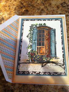 Window with Shutters Card