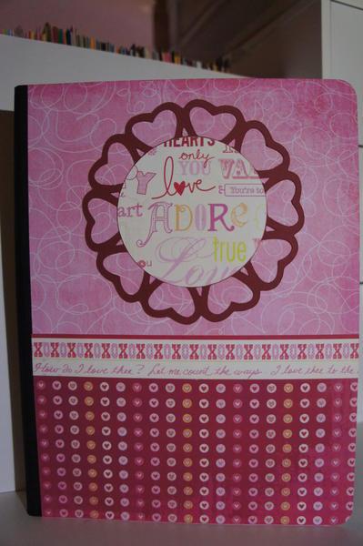 Valentine Altered Composition Book #2