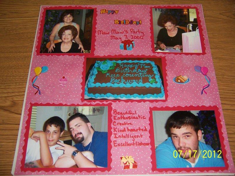 Grandma's birthday-2006