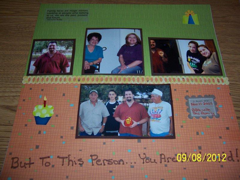 Hubby's Birthday Part 2 (Nov. 2007)