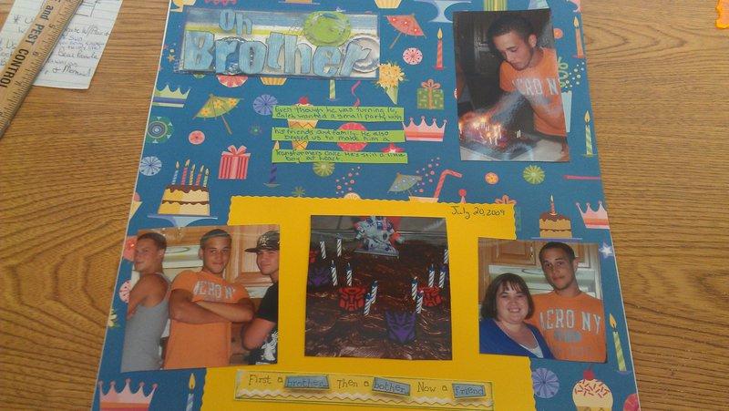 Brother's birthday- 2009