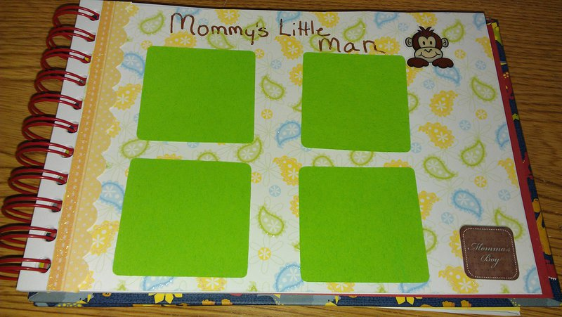 SIL baby book-Mommy and baby page
