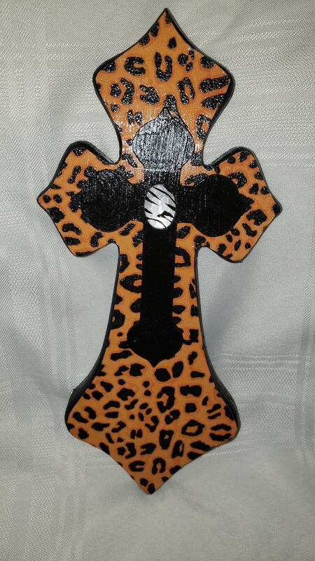Animal print Altered Cross