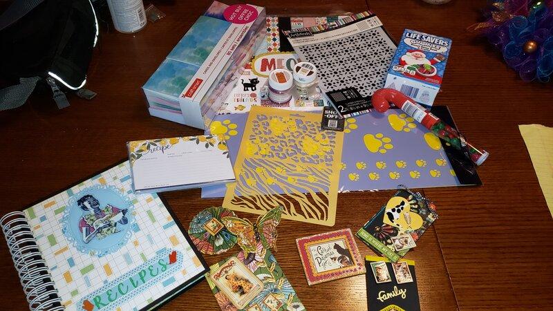 Secret Santa gifts sent to Lisa2cats