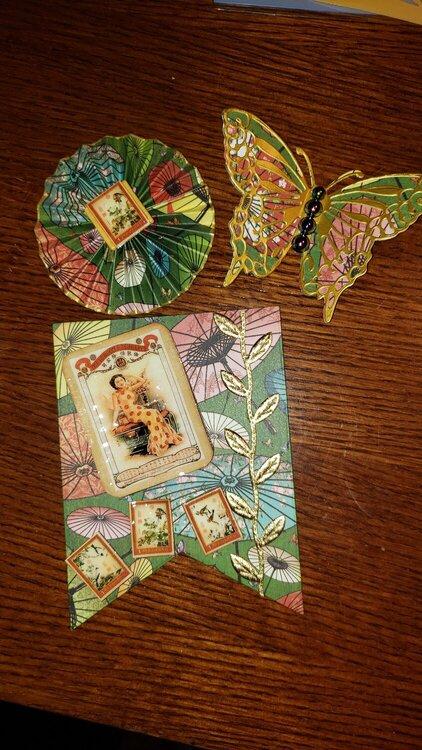 Bird Song Embellishments for Secret Santa gift