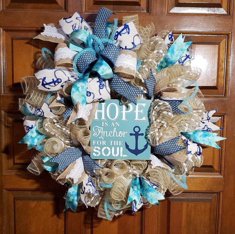 Hope is an Anchor Wreath
