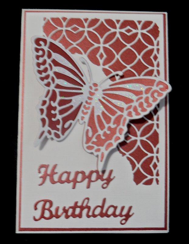 Burgandy Birthday Card