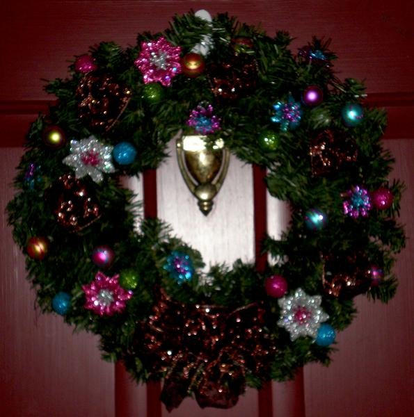 Christmas Wreath (on front door of house)