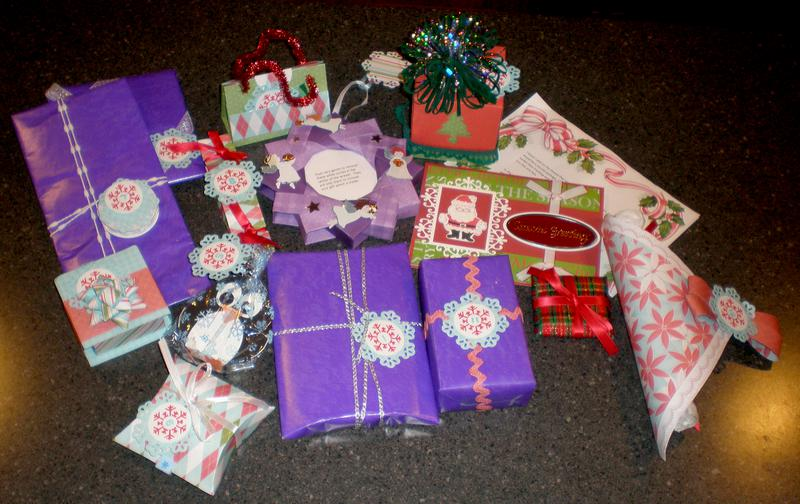 Gifts received in 12 days of Christmas Swap