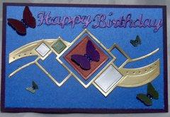 Jewel Tone Birthday Card