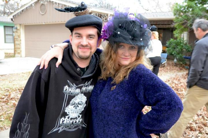 Mother and Son in fun hats