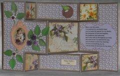 Purple Tir-Fold Mother's Day Card