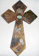 Steam Punk mixed media Cross