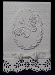 White Monotone Card