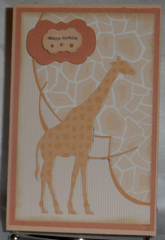 Girafe Birthday Card