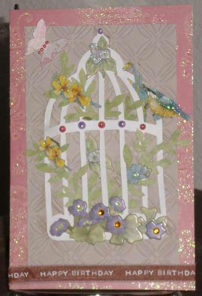 Birthday Bird Cage Card
