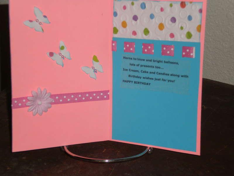 Inside Hello Kitty Card