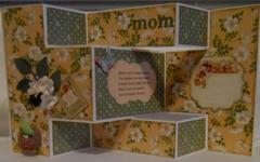 Tri-Fold Mother's Day Card (open)