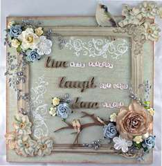 'Live, Laugh, Love' Wall Plaque