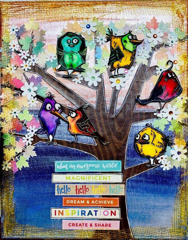 Crazy Birds Canvas