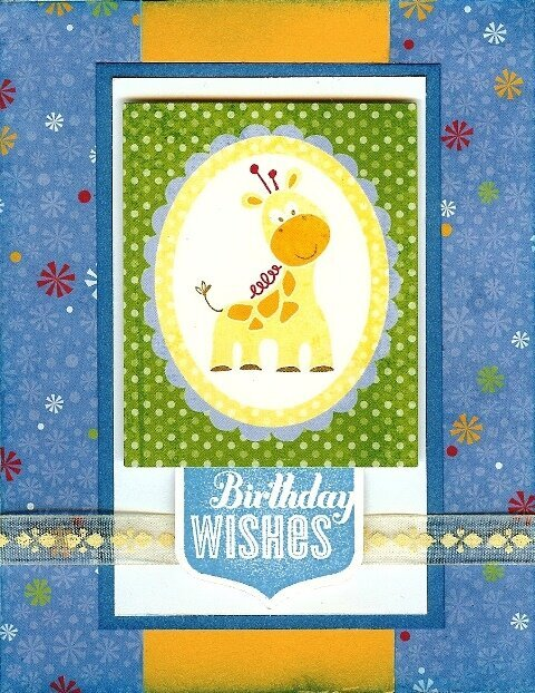 Child's Giraffe Birthday Card