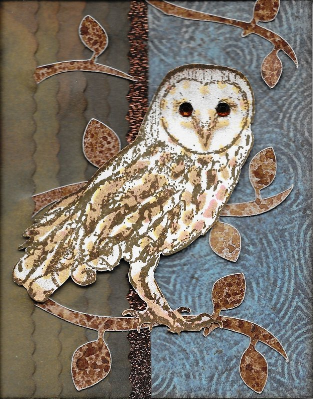 Tattered Angels Owl Card