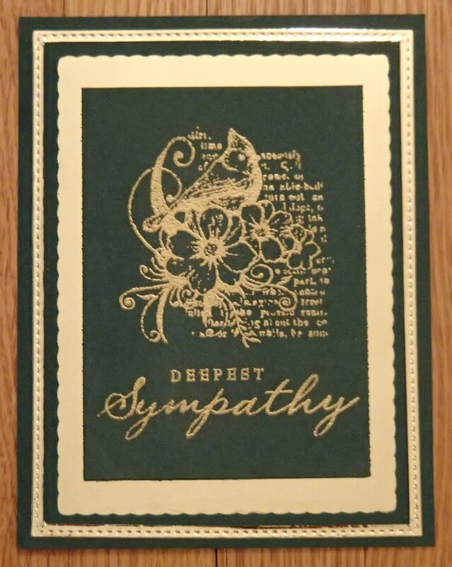 Deepest Sympathy in Gold