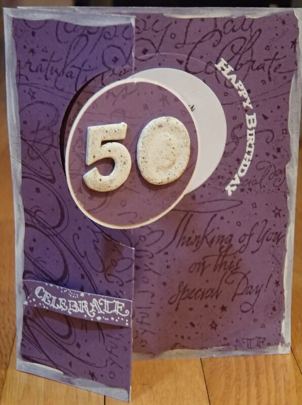 50th Birthday Spinner Card