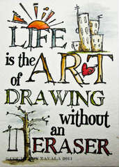 Distress Ink Watercolor - Practice