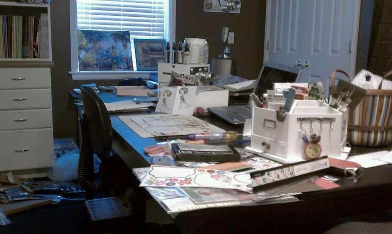 My messy desk!