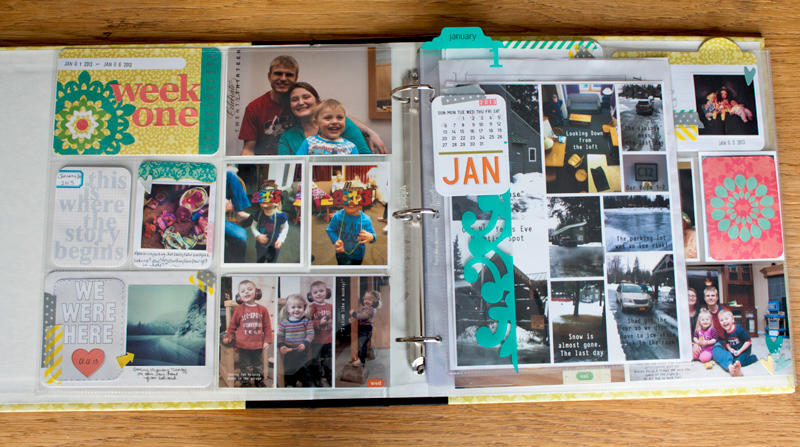 Project Life 2013 - Week 1 with Inserts