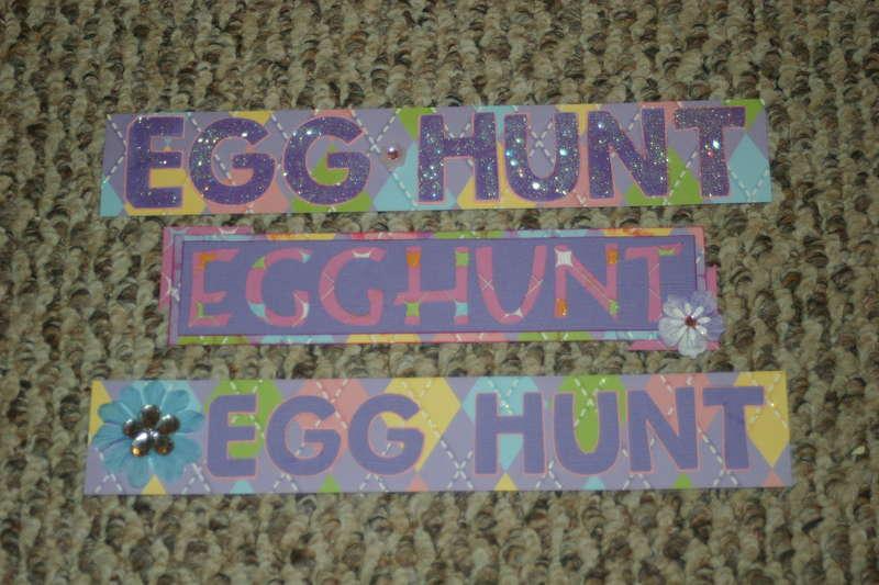 Taking It Up a Notch Swap Title--Egg Hunt