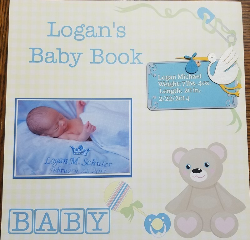 Logan's Baby Book Page 1