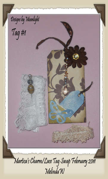 Charm and Lace Swap Tag #1