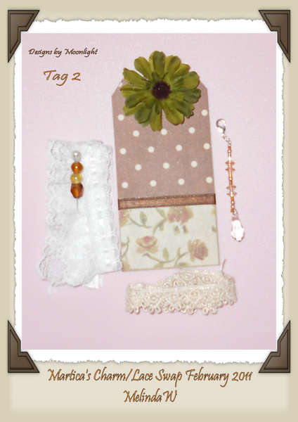 Charm and Lace Swap Tag #2