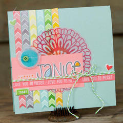 Birthday Card Janice *American Crafts*