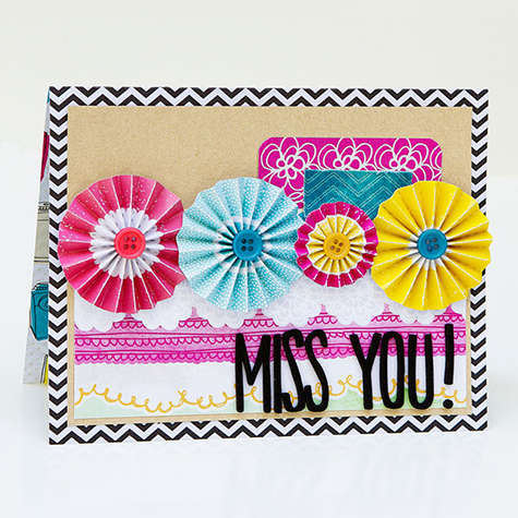 Miss you Card *American Crafts*