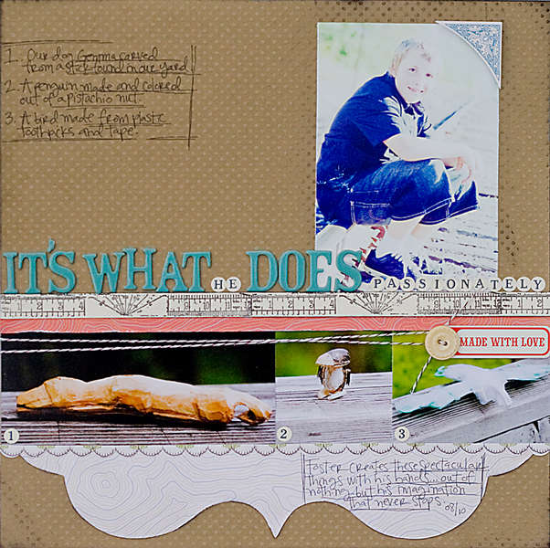 It's What He Does *Studio Calico Back 40 September kit*