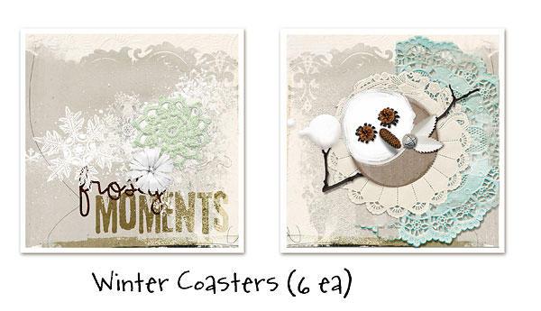 winter coasters