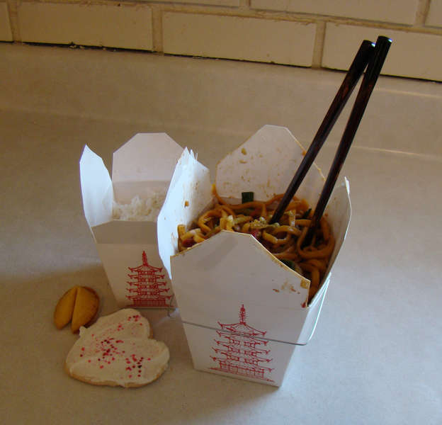 1. Chinese Food {5 points}/In Take-Out Box w/Chopsticks {5 points}