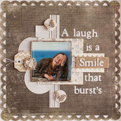 A laugh is a smile that burst's