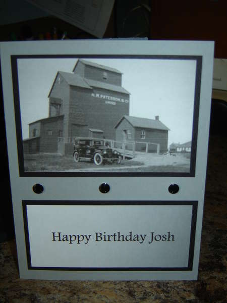 Old time birthday card
