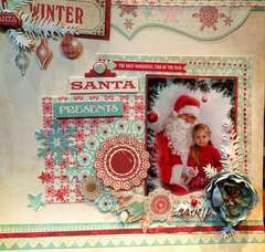 Santa first time at pre-school:)