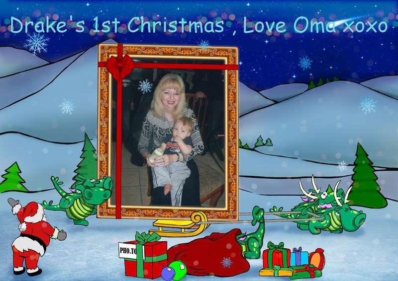 """Drake""""s 1st Christmas, Love Oma xoxo"""