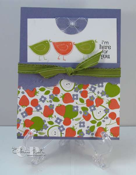 Berry Blossoms Pocket Card