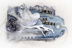 Play Be Free ATC Tag - Donna Salazar Designs